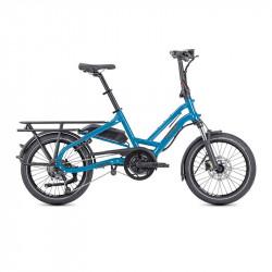 Vélo cargo électrique compact Tern HSD P9 Bleu
