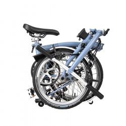 Vélo pliant BROMPTON M6L Cloud Blue - Éclairage Dynamo