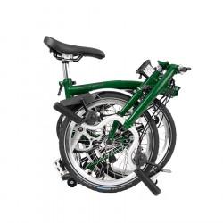 Vélo pliant BROMPTON Black Edition M6L Racing Green - Éclairage Batterie