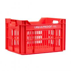 Caisse de transport vélo plastique 100% recyclé URBAN PROOF Rouge Homard