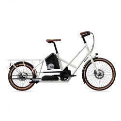 Vélo électrique longtail BIKE43 Performance Blanc Brillant