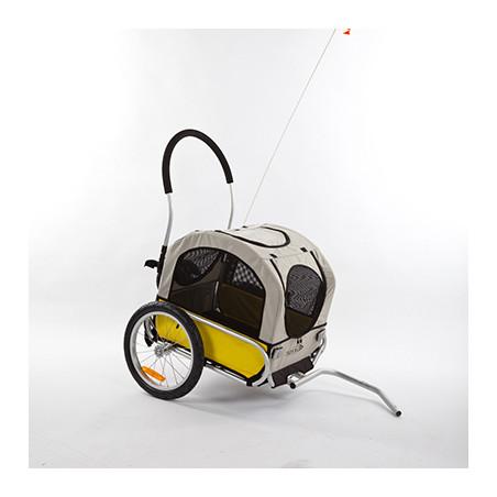 Maxxus Remorque/poussette aluminium pliable pour chien