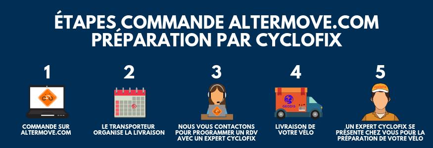 Cyclofix Altermove - préparation de votre vélo - préparation à domicile - vélo à assistance électrique