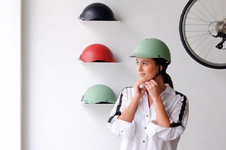 focus sur le casque velo vintage