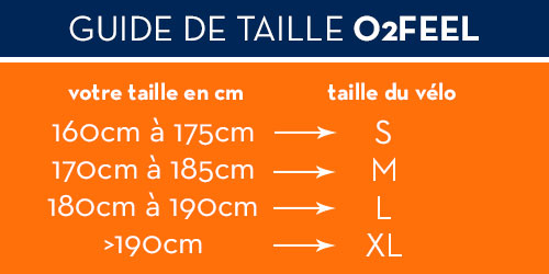 guide taille o2feel