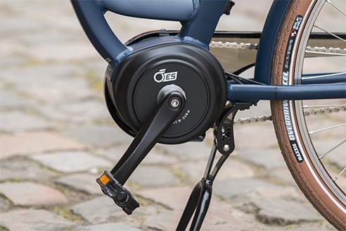 Le moteur OES 250 W Brushless 50Nm du vélo Vog D8C